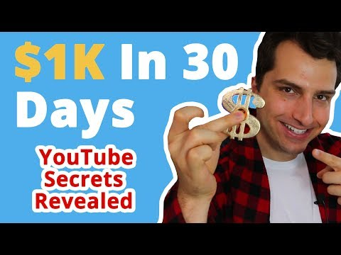LIVE @8pm EST: How to Make $1K in Under 30 Days w/ YouTube + FREE Traffic ($500 Cash Giveaway)