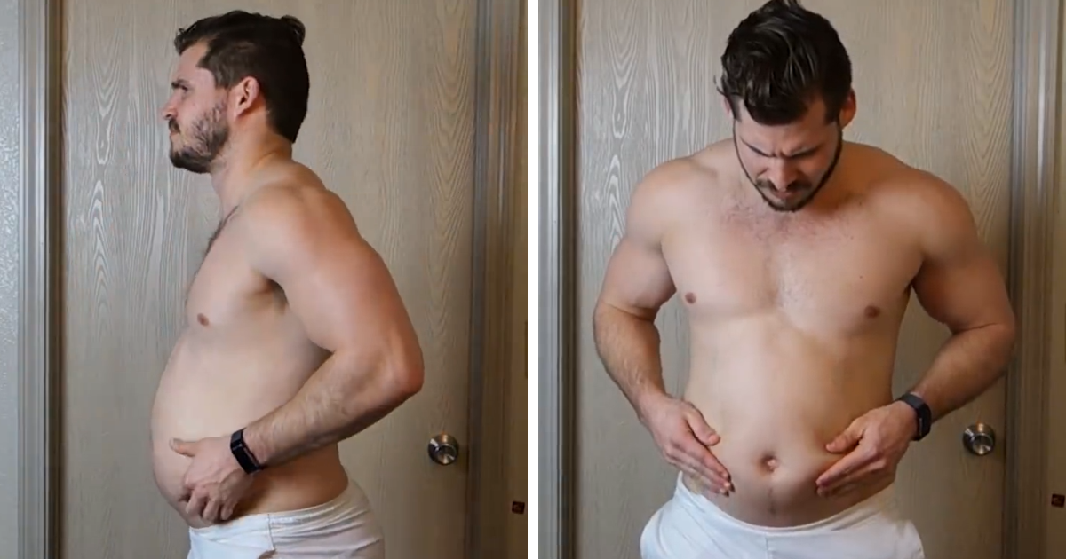 Guy Reveals His Incredible 12-Week Body Transformation In Time-Lapse, And The Result May Surprise You