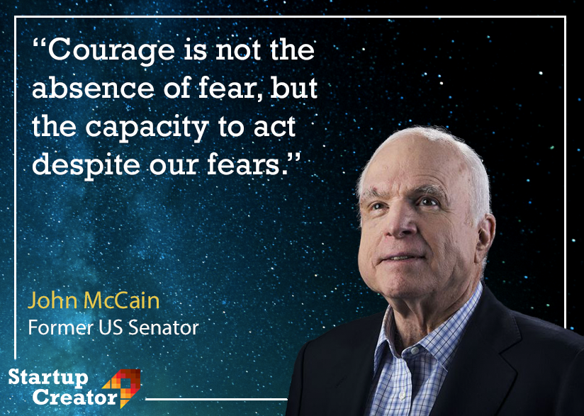 Fight your fears for your dreams 💪 R.I.P John McCain