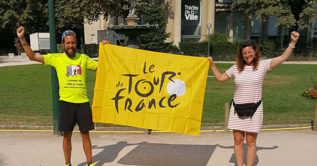This man decided to run the entire route of the Tour de France to raise money for mental health