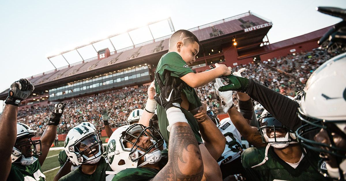 A 6-year-old cancer survivor torched the Jets for the best touchdown of the preseason