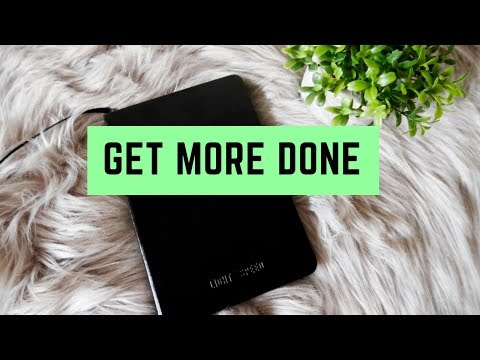 HOW TO GET MORE DONE AND OVERCOME PROCRASTINATION