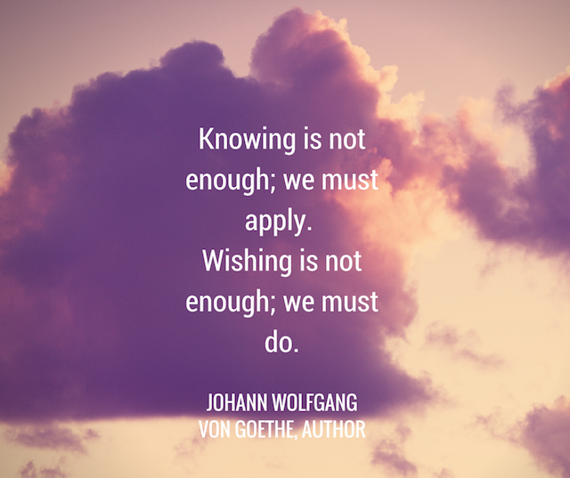 Knowing is not Enough