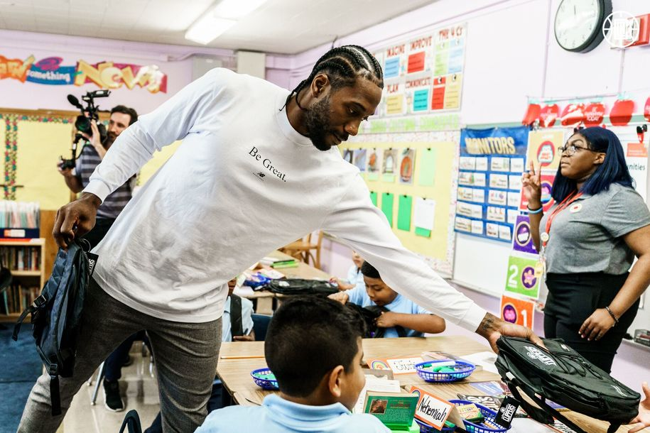 Everybody gets one! NBA Finals MVP Kawhi Leonard donates a million backpacks to SoCal schools