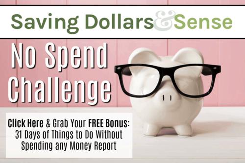 Free No Spend Challenge + Bonus Printable!