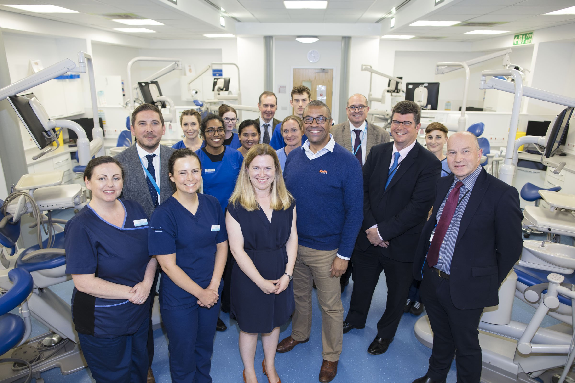 Government minister visits Plymouth University to see pioneering community dentistry facility