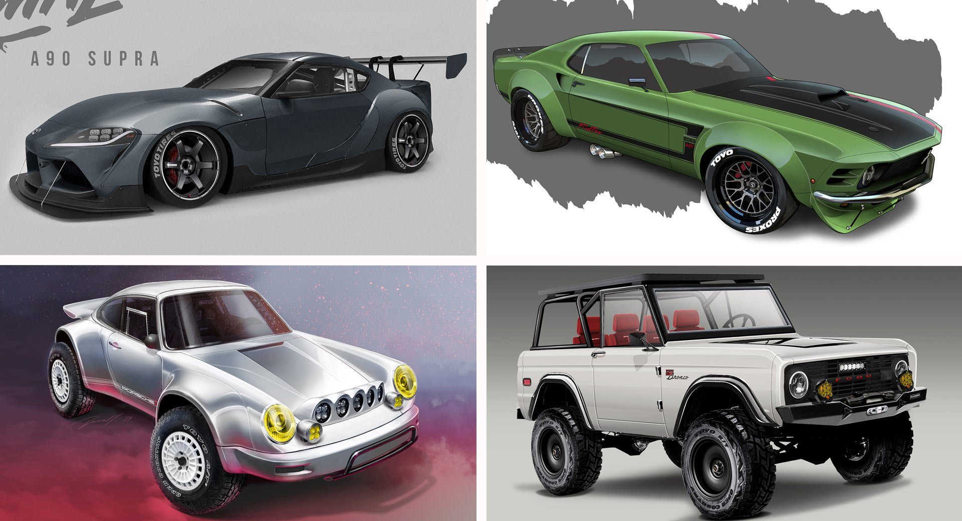 Toyo Tires Previews Six SEMA Builds Including Models Based On The Supra, Mustang And Bronco