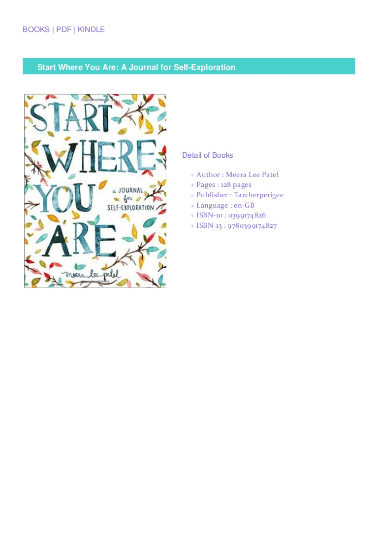 DOWNLOAD EBOOK Start Where You Are: A Journal for Self-Exploration READ B.O.O.K.