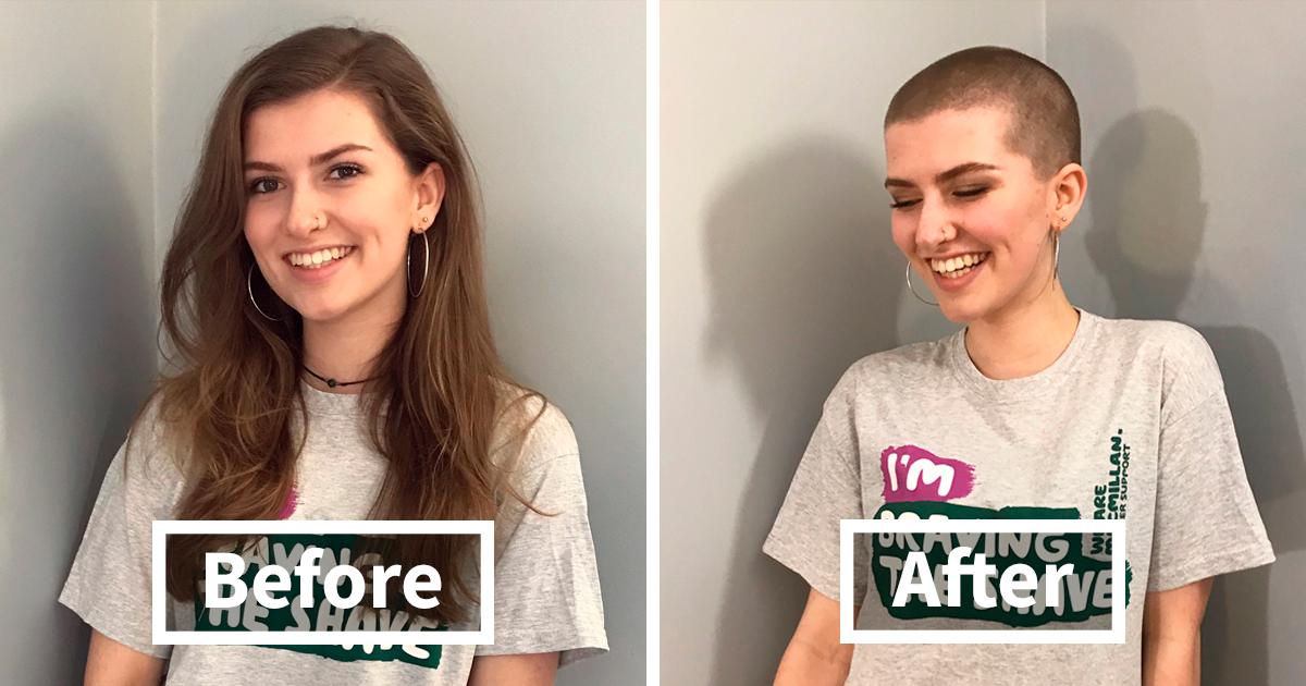 136 Before And After Pictures Of Generous People Who Donated Their Hair To People Sick With Cancer