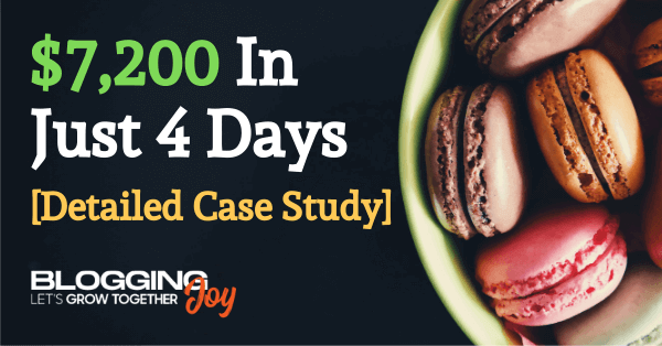 Black Friday Case Study: How We Made $7,200 in 4 Days Through Affiliate Marketing [Event Blogging Rocks!!]