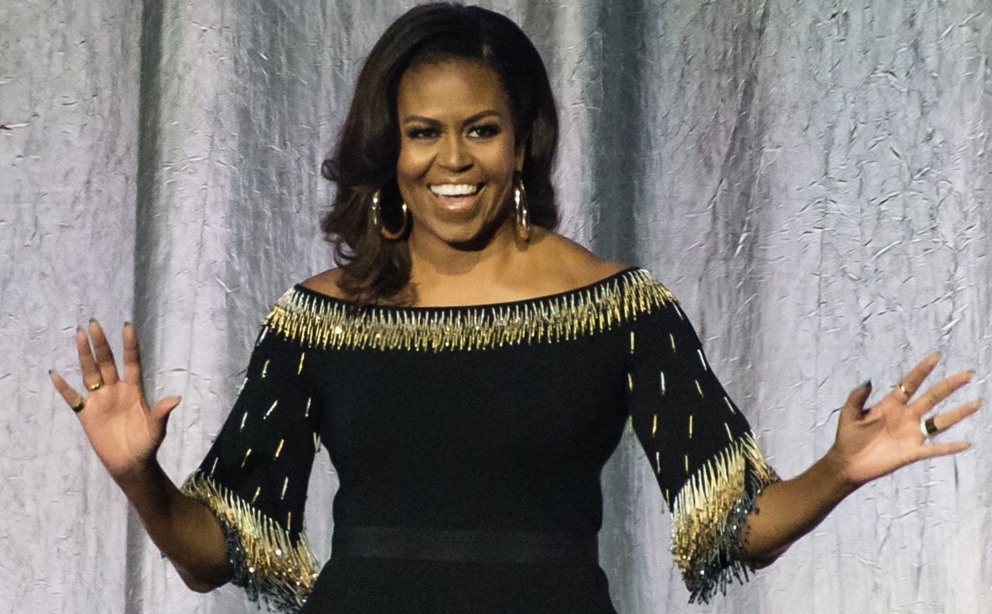 We Can't Stop Looking at Michelle Obama's Epic '80s Prom Pic